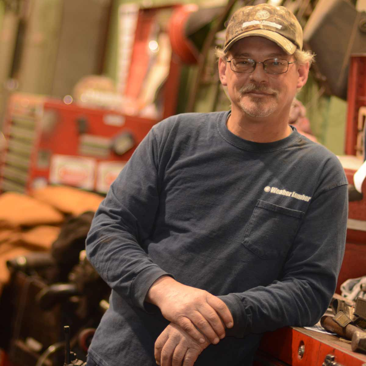 Weaber Lumber Employee in factory